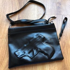 Handbags - Glossy Black Gun Crossbody/Clutch
